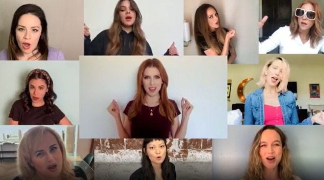 WATCH: 'Pitch Perfect' cast reunites for virtual performance of 'Love on Top'