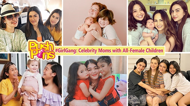 #GirlGang: Celebrities with All-Female Children | Push Pins