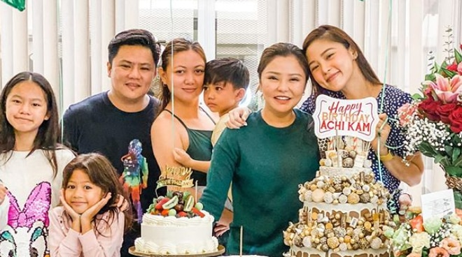Kim Chiu surprises sister Lakam on her birthday