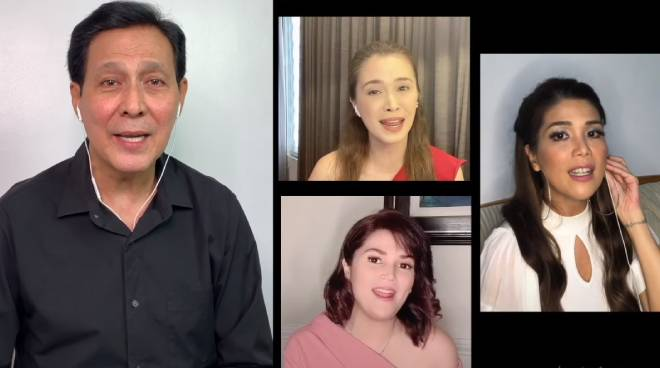 WATCH: Tirso Cruz III, joins nieces Geneva, Sunshine and Donna for an ABBA medley