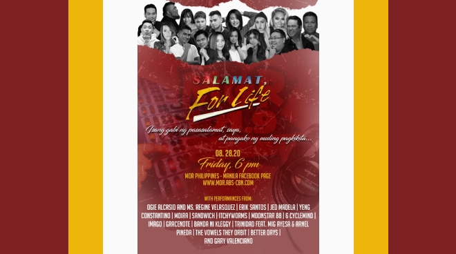 MOR bids farewell to loyal audiences in 'Salamat for Life!' online special