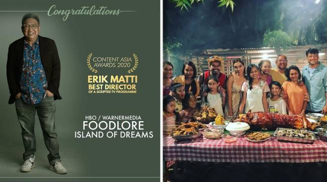 Erik Matti bags best director award for his work on an episode of HBO Asia's 'Food Lore'