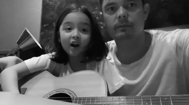 WATCH: Dingdong Dantes shares adorable video of daughter Zia playing the guitar