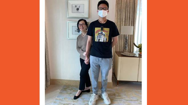 LOOK: Bimby towers over mom Kris Aquino, now a six-footer at the age of 13