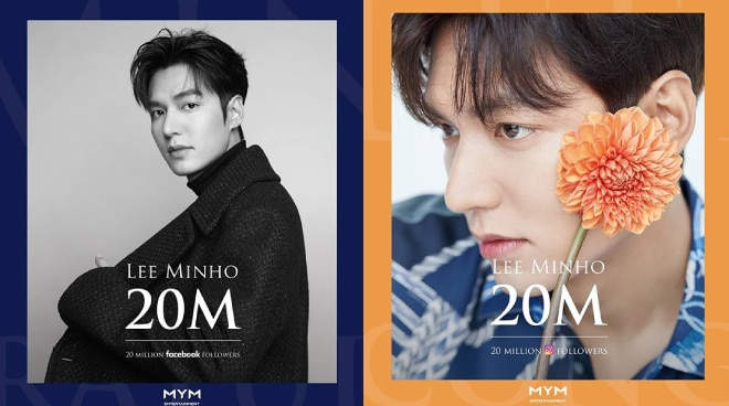 Lee Min Ho sets record as first Korean celebrity with 20M Facebook and Instagram followers