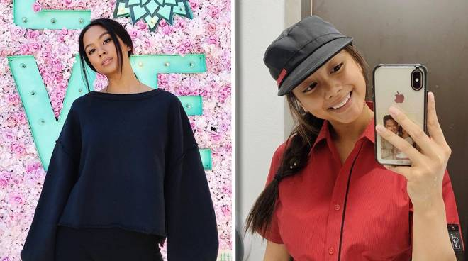 Ylona Garcia now working at a fast food chain in Australia