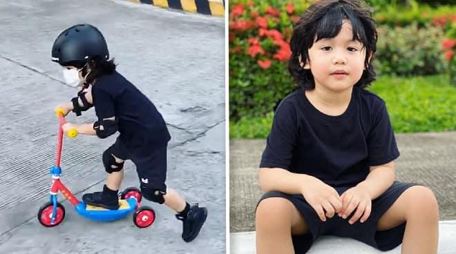 LOOK: Toni Gonzaga posts a clip of son Seve on a mini scooter: 'Big boy na'