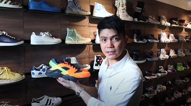 WATCH: Vhong Navarro gives a tour of his two-floor walk-in closet, shows his massive shoe collection
