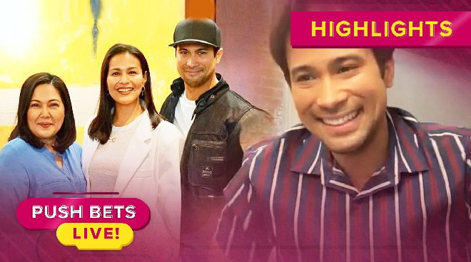 'Sobrang kabado ako': Sam Milby feels pressured working with Maricel Soriano and Iza Calzado | Push Bets Live