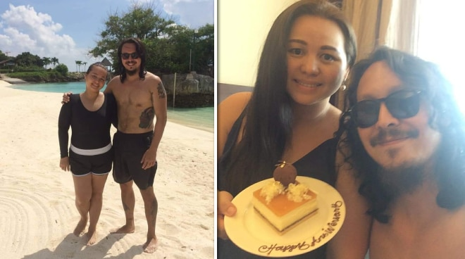 Baron Geisler at asawang Jamie Marie celebrate first wedding anniversary
