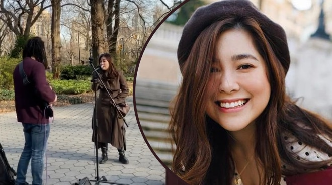 WATCH: Moira dela Torre sings 'Can't Help Falling In Love' in Central Park